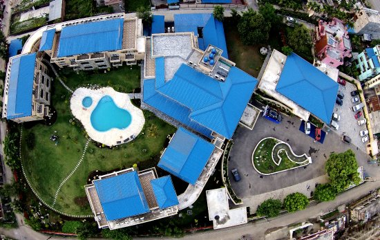The Bird's eye view of Bharatpur Garden Resort(hotel). A small paradise in the heart of city.