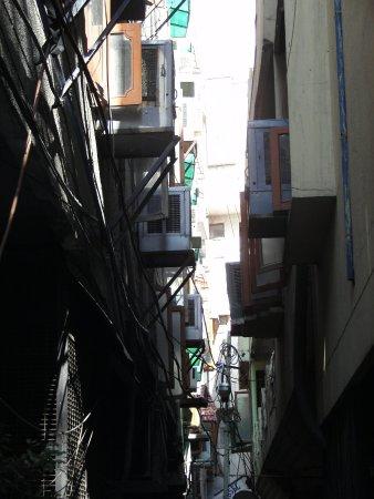 Majnu ka Tilla: One of the alleys so common in the colony