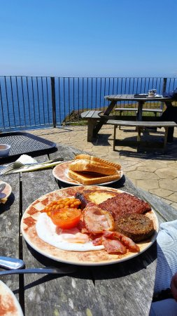 Mull of Galloway, UK: Full English Breakfast @ Gallie Craig Coffee House