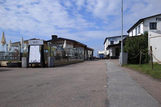 Loderup, Svezia: Kåseberga Fiskrökeri (Fischräucherei am Hafen) & Restaurant, Juni 2017