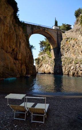 Fiordo di Furore, Italy: View from the beach