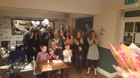 Keyworth Village Cafe and Bistro : Mum on her 80th surrounded by her family !!! Thanks to all at the Village Bistro for making this