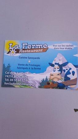 La Clusaz, France: La carte...de visite ;-)