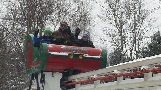 Santa's Village: Riding in the sleigh