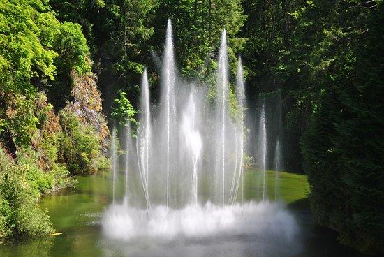 Butchart Gardens: Ross Fountain Lookout/Sunken Gardens