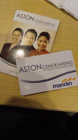 Aston Cengkareng City Hotel & CC: Key card