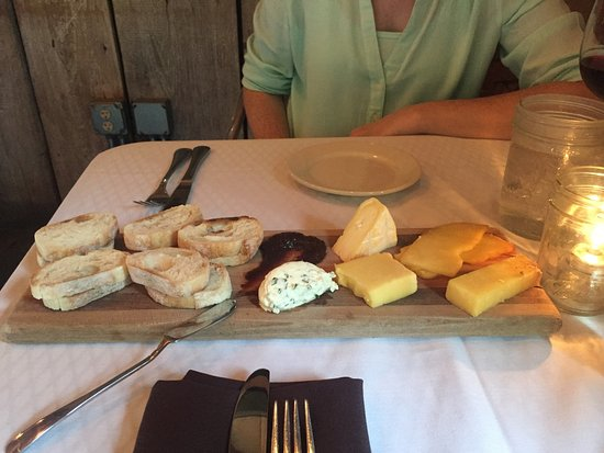 Zionsville, IN: The Cheese Board featuring TPC's organic grass-fed cheeses, fig chutney and local breadloca