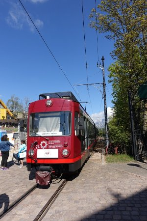 Renon, Italy: Tram to towns
