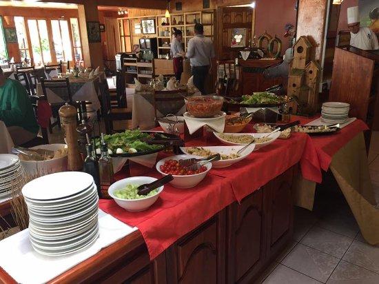 San Gerardo de Dota, Коста-Рика: Almuerzo buffet