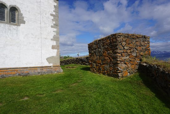 Harstad, Norge: Remaining of old defends towers