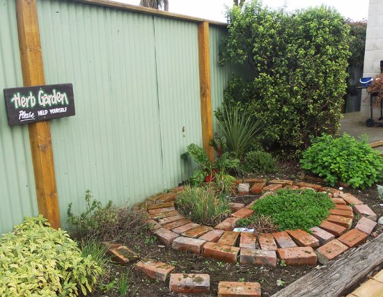 Timaru TOP 10 Holiday Park: so sweet....a herb garden!
