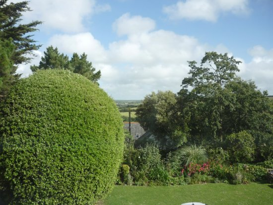 Little Petherick, UK: View from the front over the garden