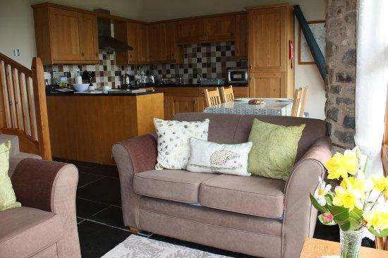 Umberleigh, UK: Taw Valley Lounge/kitchen