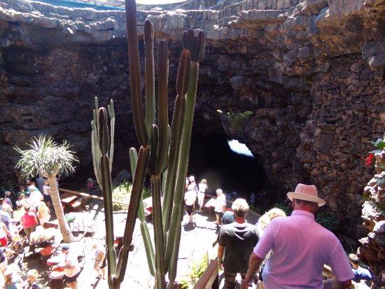 Punta Mujeres, Hiszpania: un des deux accès à la grotte -