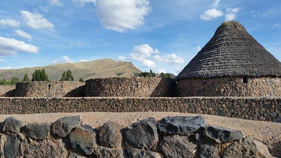 Regione di Cusco, Perù: De huisjes in adobe