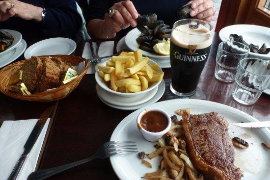 New Quay, Irlanda: pièce de boeuf