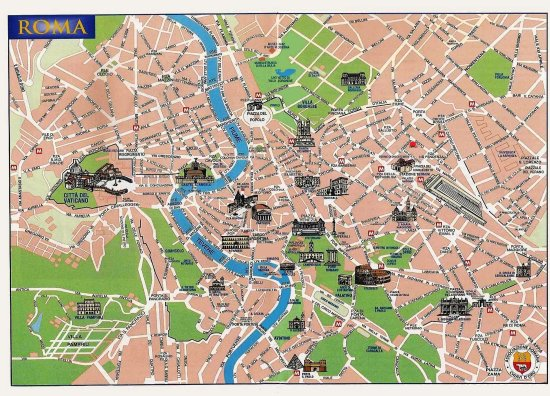 Rome City map Picture of Domus Australia Boutique Guest House