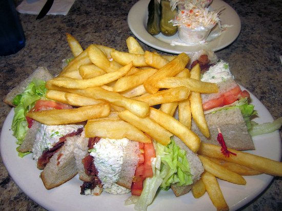 Trevose, PA: Chicken Salad Club Sandwich platter