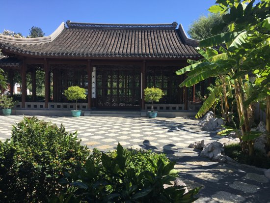 The Huntington Library, Art Collections and Botanical Gardens: This courtyard in the Chinese Garden usually has musicians serenading crowds on the weekends.