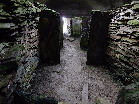 Inside the Knowe of Yarso - a chambered cairn on Rousay.