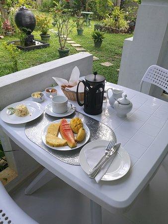 Breakfast included.