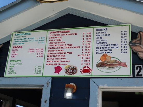 Robinson's Seafood Delight : Menu