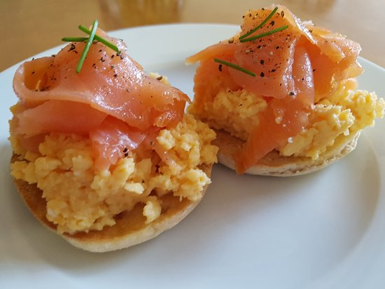 From The Menu Scottish Smoked Salmon And Scrambled Eggs