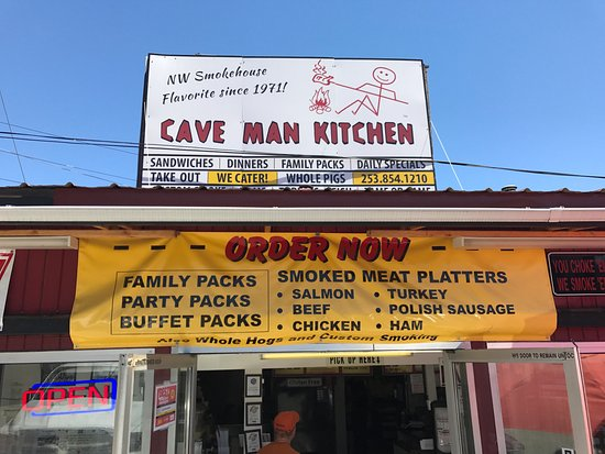 Кент, Вашингтон: Cave Man Kitchen BBQ Smokehouse Kent WA, 6-24-2017
