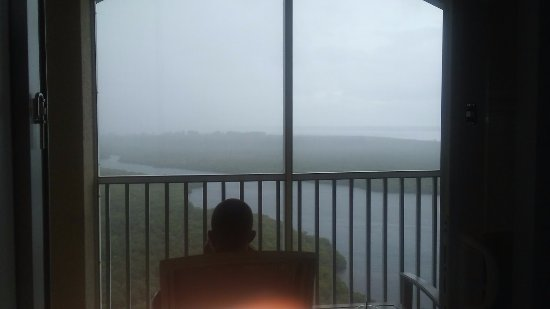 The Westin Cape Coral Resort At Marina Village: watching the rain pass