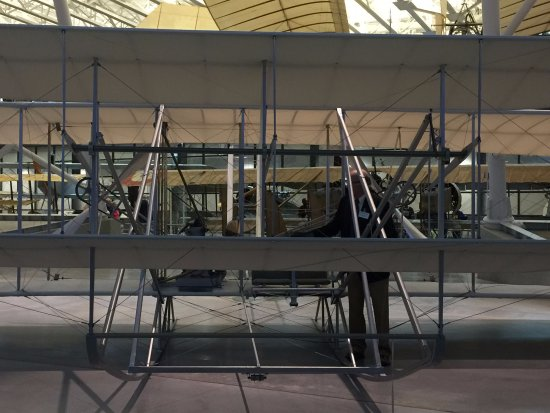 Chantilly, VA: The Wright Bros were bicycle makers - and their plane shows it.