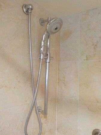 Prince of Wales: Substantial handheld shower.
