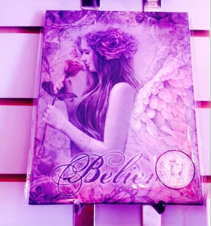 Eternal Pieces: Beautiful Designer Believe Canvas, with Angel wings, unique £6.99