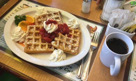 Horn of Plenty Cafe: Daughter's waffles.