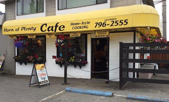 Horn of Plenty Cafe: Storefront view.