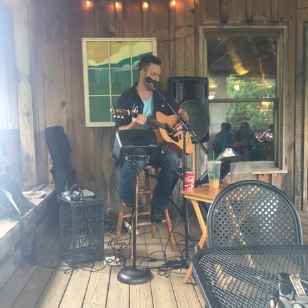 Love the live music on the back porch!