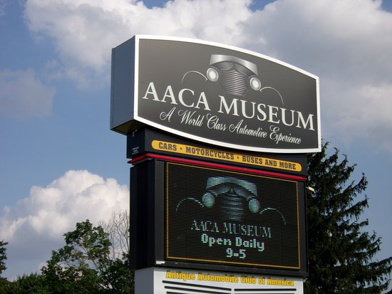 Antique Automobile Club of America Museum: Look for this sign!