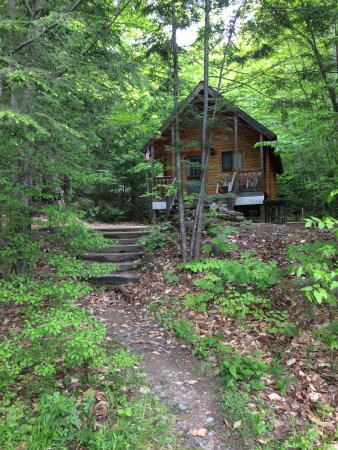 Ossipee, NH: Cabin K1 trail to house