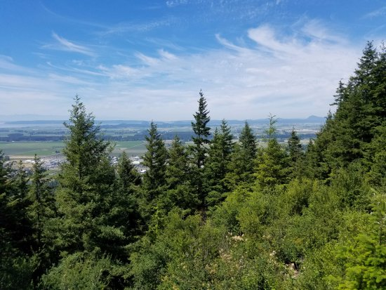 Mount Vernon, WA: View of Puget Sound and the city of Mt Vernon below