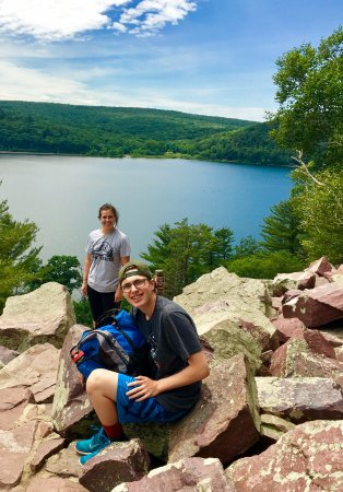 Baraboo, WI: My kids thought this was a fantastic hike and often stopped to take in the view.