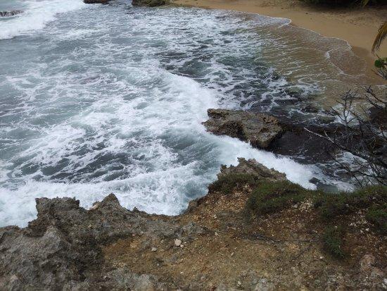 Manzanillo, Costa Rica: Portion of the walk along the Caribbean Sea