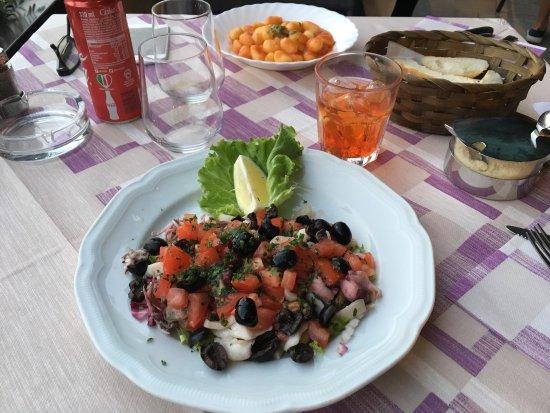 Oggebbio, Italy: Very good see salad