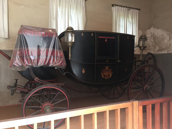 Chaumont-sur-Loire, France: A carriage in the stables