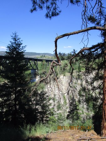 Summerland, Καναδάς: Trout Creek Trestle For The kettle Valley Train