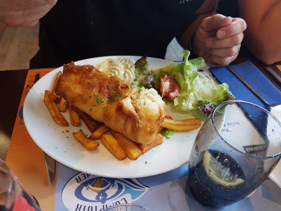 Etaples, Frankrijk: Fish and chips maison