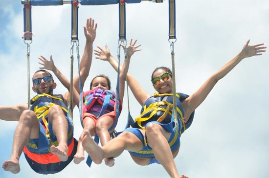 Flying Fish Parasail : my husband, daughter, and i (one of many pics)