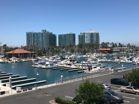 Marina del Rey, CA: View from a 3rd floor room, towards the front of the hotel