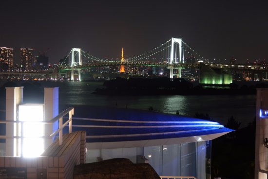 Hilton Tokyo Odaiba: View from the hotel hot tub