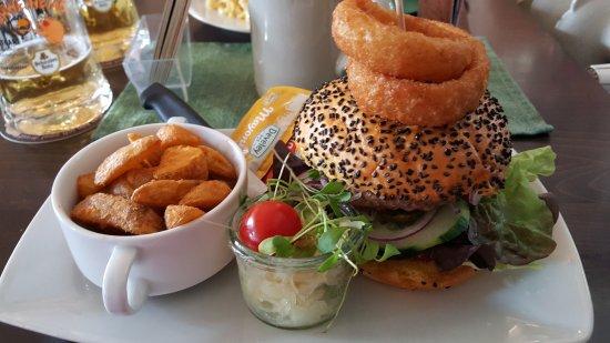 Burger In Stuttgart pig burger and potato picture of schlachthof restaurant stuttgart