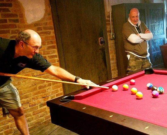 Williamsport, MD: Playin' pool in the basement