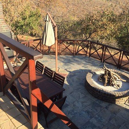 Vaalwater, Afrique du Sud : Braai seating area